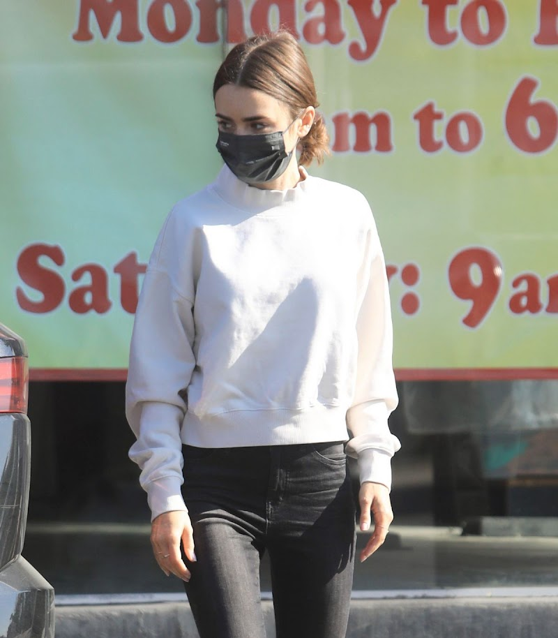 Lily Collins in Los Angeles 9 Apr-2021