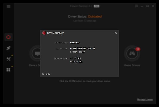 Iobit driver booster 8 pro key