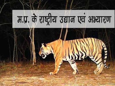 मध्य प्रदेश के राष्ट्रीय उद्यान तथा अभ्यारण्य के बारे में जानकारी | MP National Park Fact in Hindi