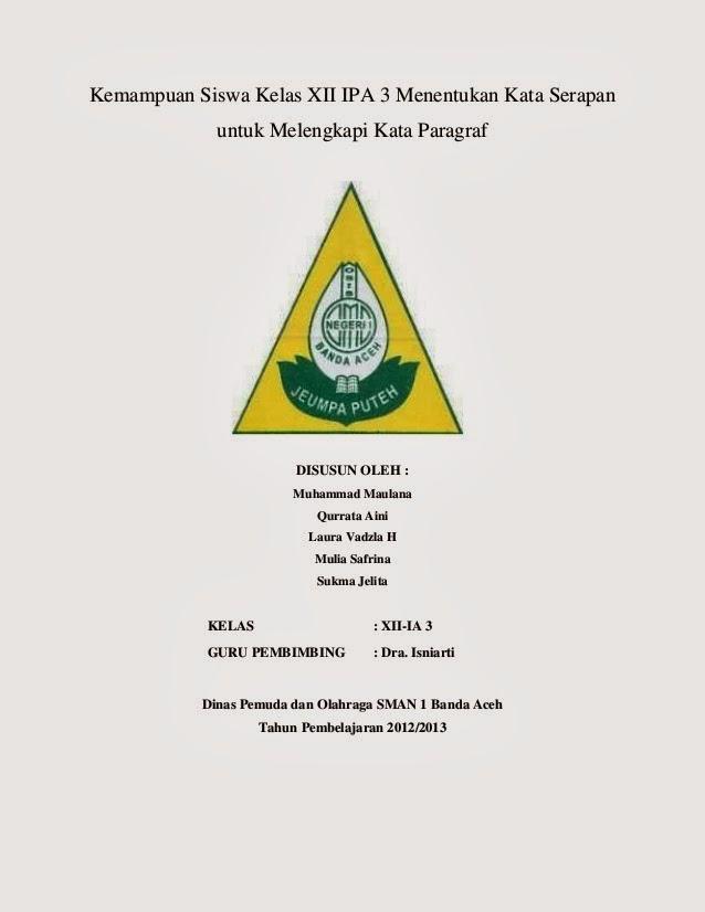 Contoh Cover Karya Tulis Ilmiah 2019 Kumpulan Contoh Surat Dan
