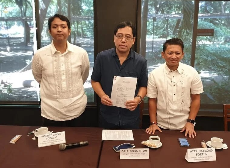Lawyers for Commuter Safety and Protection (LCSP) Files TRO Against Five Motorcycle Taxi Companies