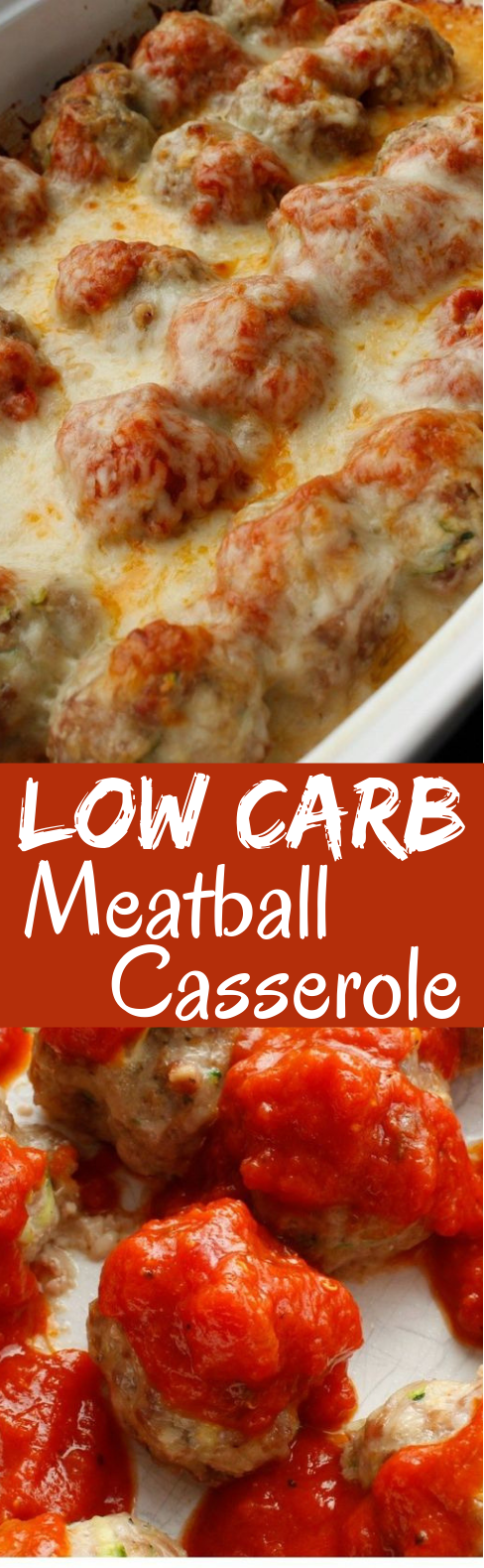 Low Carb Meatball Casserole #lowcarb #keto