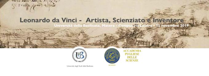 """Unibas: a Matera giornata di studio su """"Leonardo da Vinci, artista, scienziato, inventore"""""""