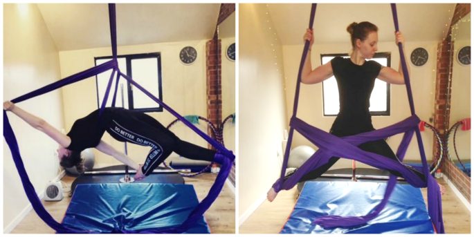 Emma Honestly blog, aerial silks