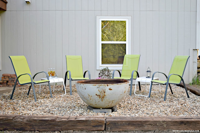 Turn A Boring Backyard into a Fantastic DIY Outdoor Entertaining Space With a Fire Pit