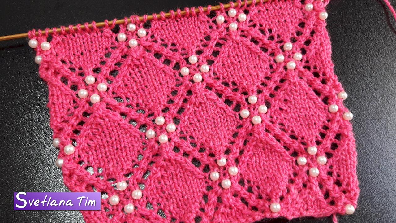 вязание спицами ажурные узоры и схемы для ажурного платка и косы