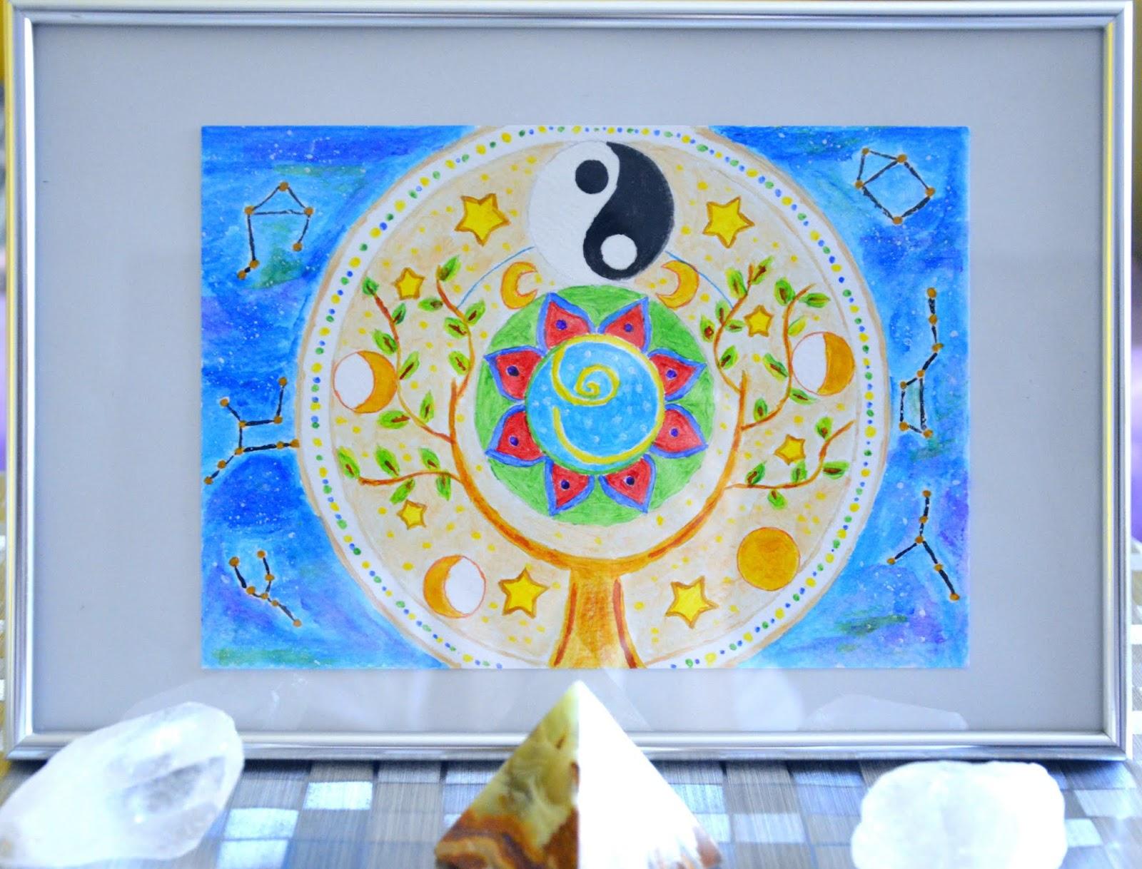 maluję z intencją, malowanie mandali