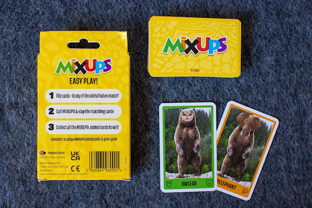 MIXUPS card game by 7 pips which combines 2 animals into a fun snap game