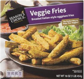 A stock image of Season's Choice Premium Veggie Eggplant Fries, from Aldi