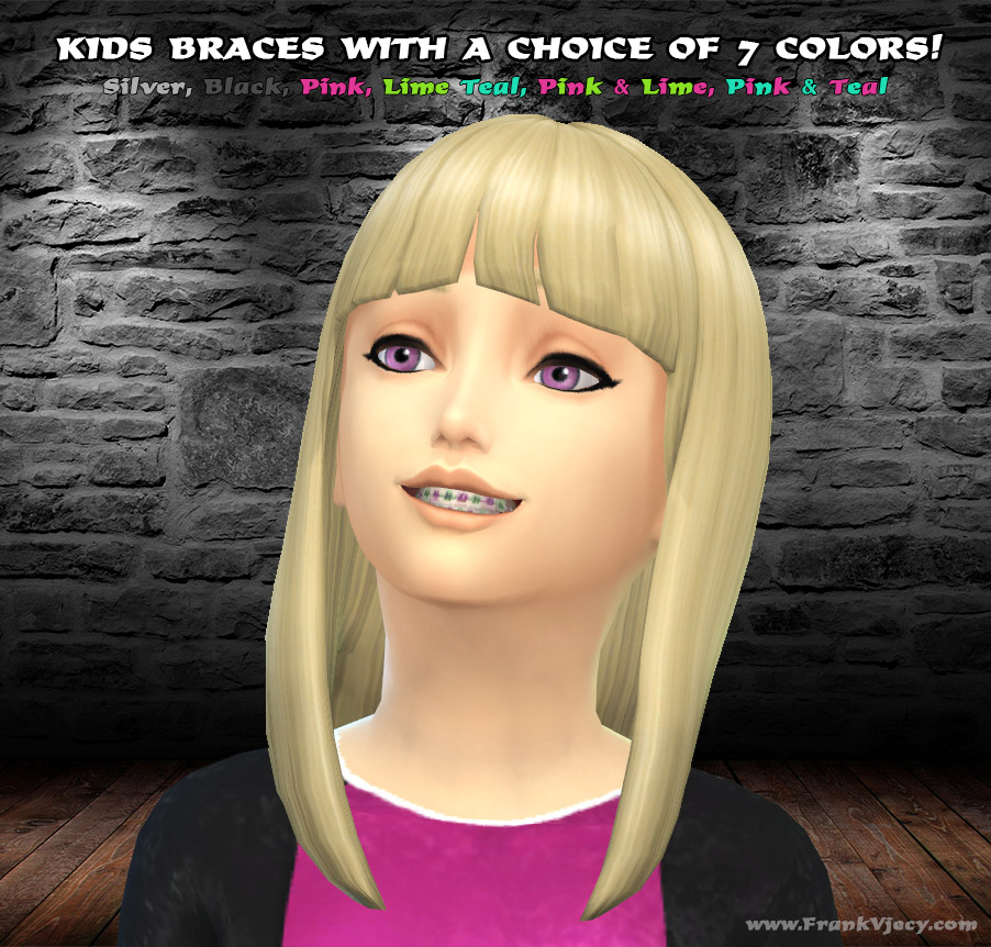 Sims 4 Cc S The Best Windows By Tingelingelater: My Sims 4 Blog: Kids Braces By FrankVjecy