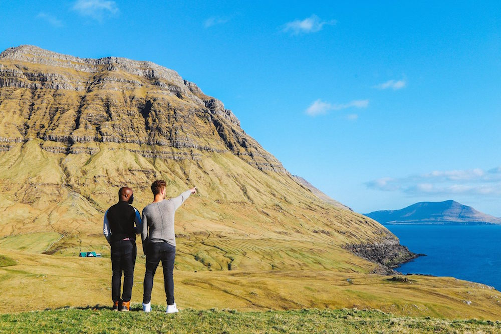 Lloyd and Yaya from Hand Luggage Only exploring the Faroe Islands