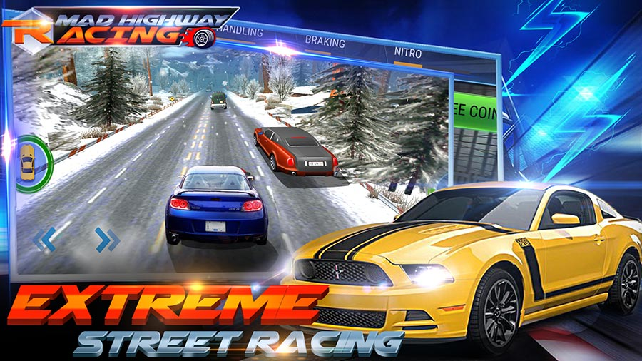 Game Balap Mobil Offline Android Mad 3D Highway Racing MOD ...