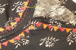 Hand Embroidery on Kurta
