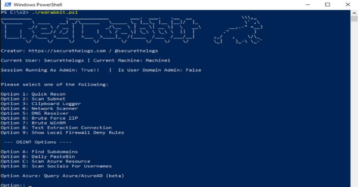 RedRabbit : Red Team PowerShell Script