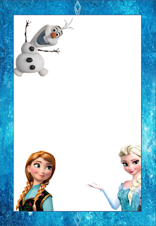 Marcos, Invitaciones, Tarjetas o Etiquetas de Frozen para Imprimir Gratis.