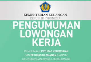Lowongan Kerja KPKNL Lhokseumawe
