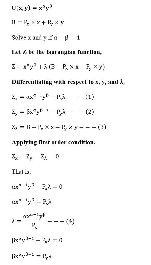 Solution U(x,y)=x^α y^β