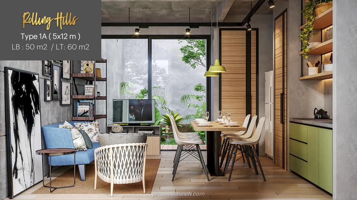 Interior Design Rumah Rolling Hills Karawang Tipe 1A