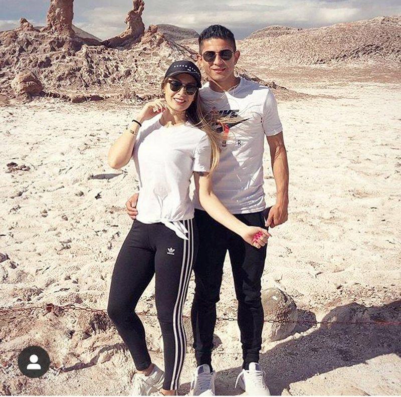 Felipe Flores y su polola Claudia Rivera