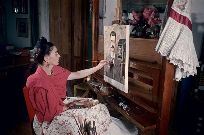 color photo of Frida Kahlo