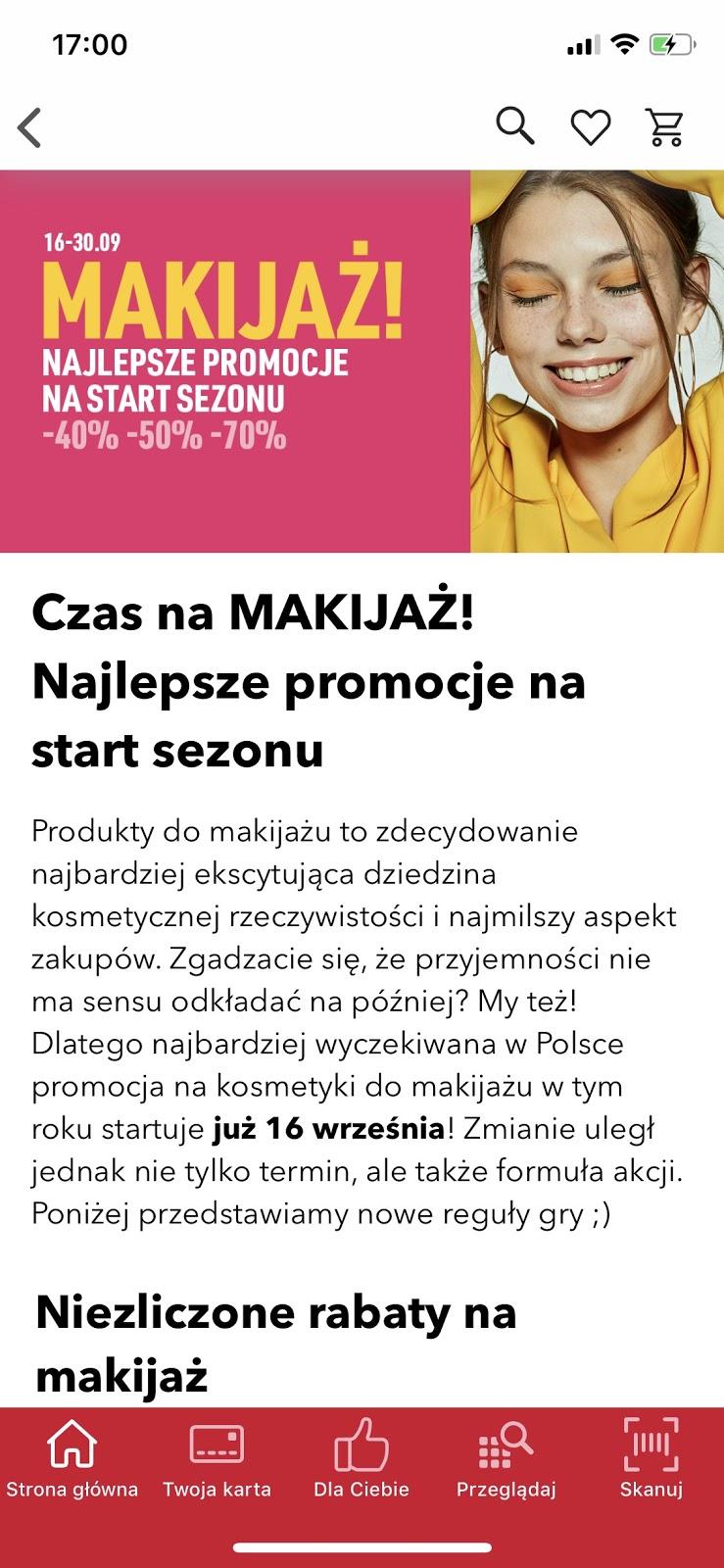 Rossmann promocja na makijaż wrzesień 2019