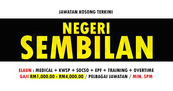 Jawatan Kosong Terkini di Negeri Sembilan