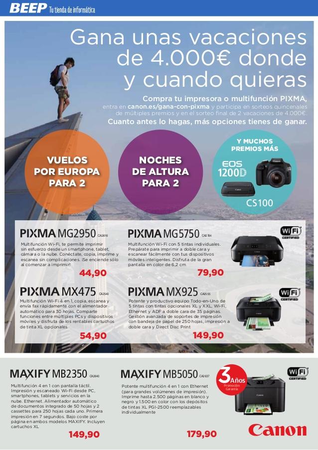 Promoción impresora Canon - Gana con Pixma