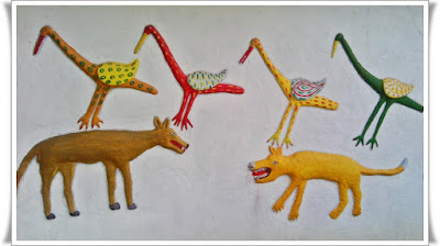 Wall mural - Animals Painting - Embossed Painting
