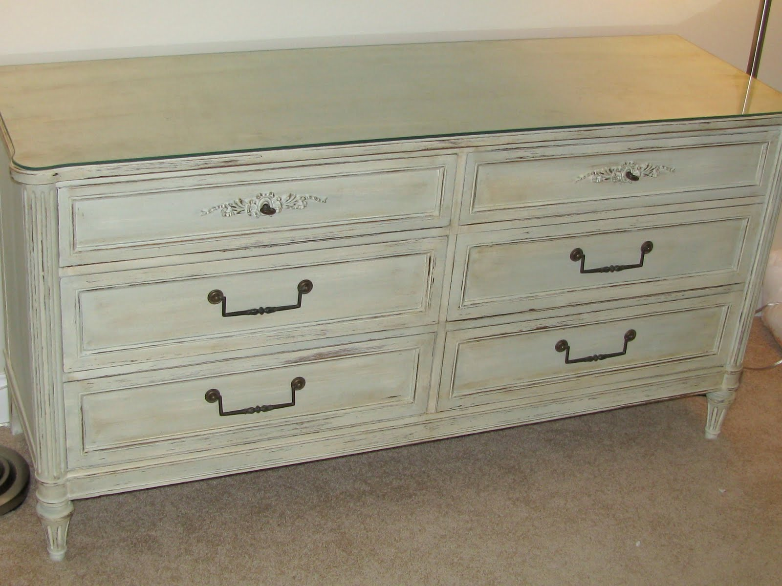 One Cheap Mama Antique Distressed Dresser using Chalk Paint
