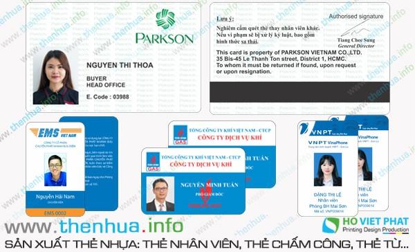 Làm thẻ nhựa kích thước 86 x 54 mm dạng thẻ ATM chất lượng