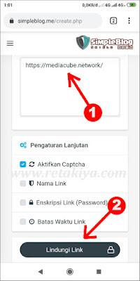cara membuat link pendek dengan simpleblog me