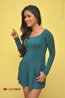 Telugu Actress Prasanthi Stills in Green Short Dress at Swachh Hyderabad Cricket Press Meet  0006.JPG
