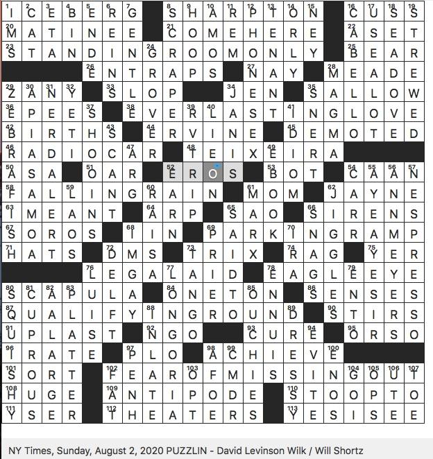 Rex Parker Does The Nyt Crossword Puzzle Longtime Media Columnist David Sun 8 2 20 Bird Also Known As Little Auk Longtime Yankees First Baseman Mark Hedge Fund Titan Nicknamed