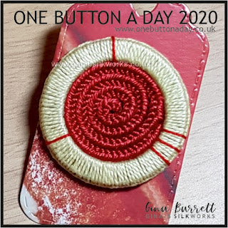 One Button a Day 2020 by Gina Barrett - Day 123 : Reel