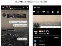 Download Tema BBM MOD Chat Me Black White v3.3.6.51 APK Versi Terbaru