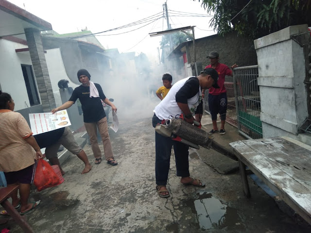 M Nurfahroji Kembali Lakukan Fogging Pemukiman Warga