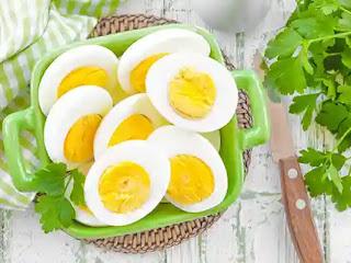 السعرات الحرارية في البيض المطبوخ