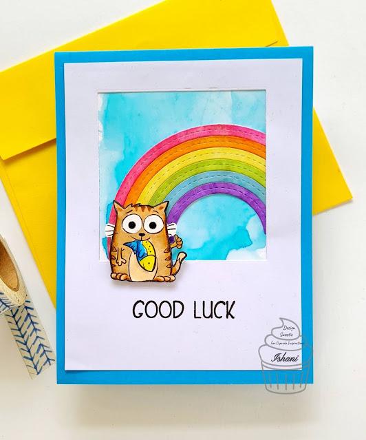 Cool cats - YNS, CIC,Your Next Stamp, Good luck card,MFT dienamics, Quillish, CAS card