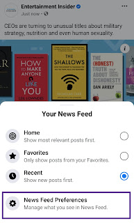 News Feed Preference Facebook