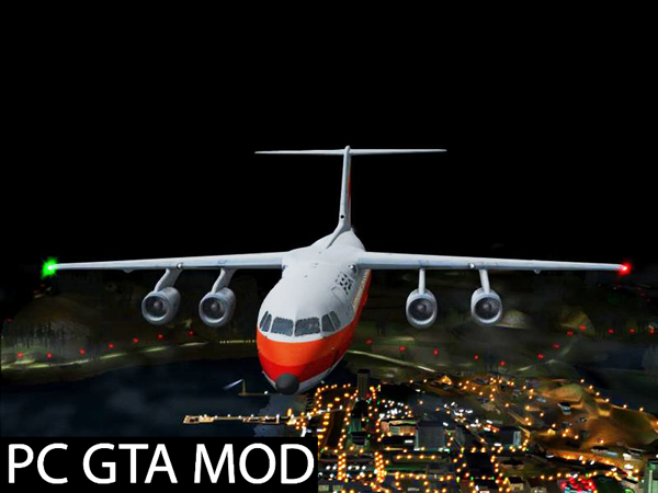 Free Download BAe 146-200 Updated  Mod for GTA San Andreas.