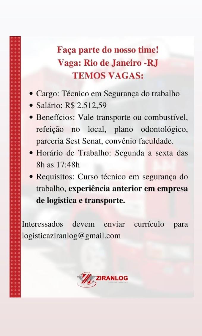 Técnico em Segurança do Trabalho, Rio de Janeiro, RJ