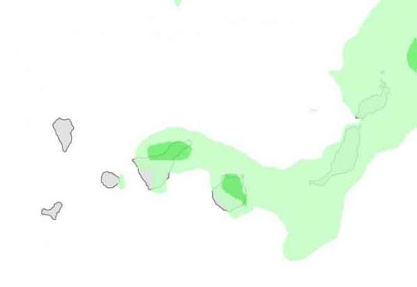Se esperan lluvias en  Canarias, martes 31 enero