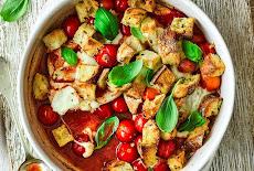 مقبلات سهلة وسريعة | سلطة الفراخ مع الثوم والكريتون Chicken garlic croutons
