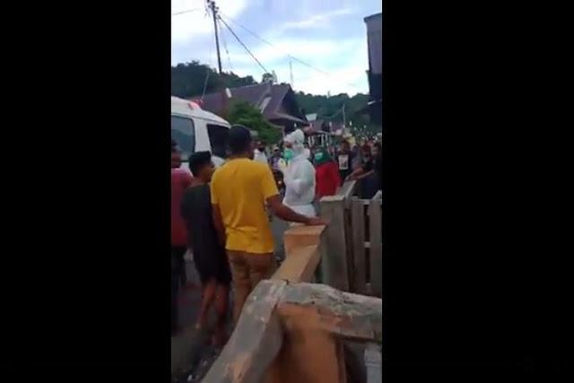 Pasien PDP Kabur, Saat Dijemput Petugas ber-APD Warga dan Keluarga Justru Ngamuk