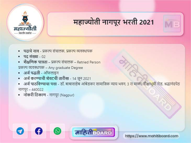 Maha Jyoti Nagpur Bharti 2021