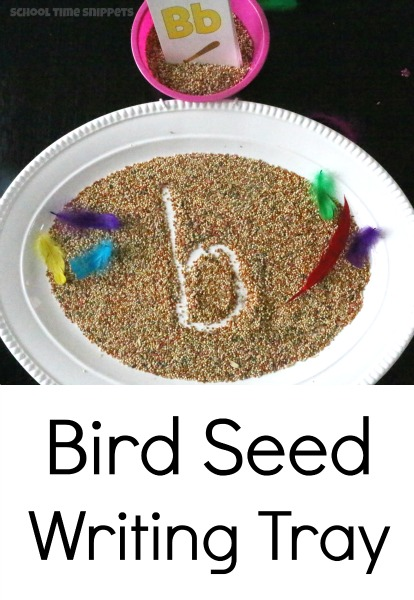 Great Spring time Writing Tray for your Preschooler!