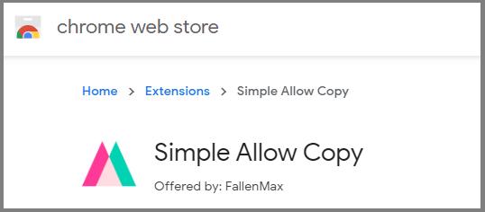 simple allow copy