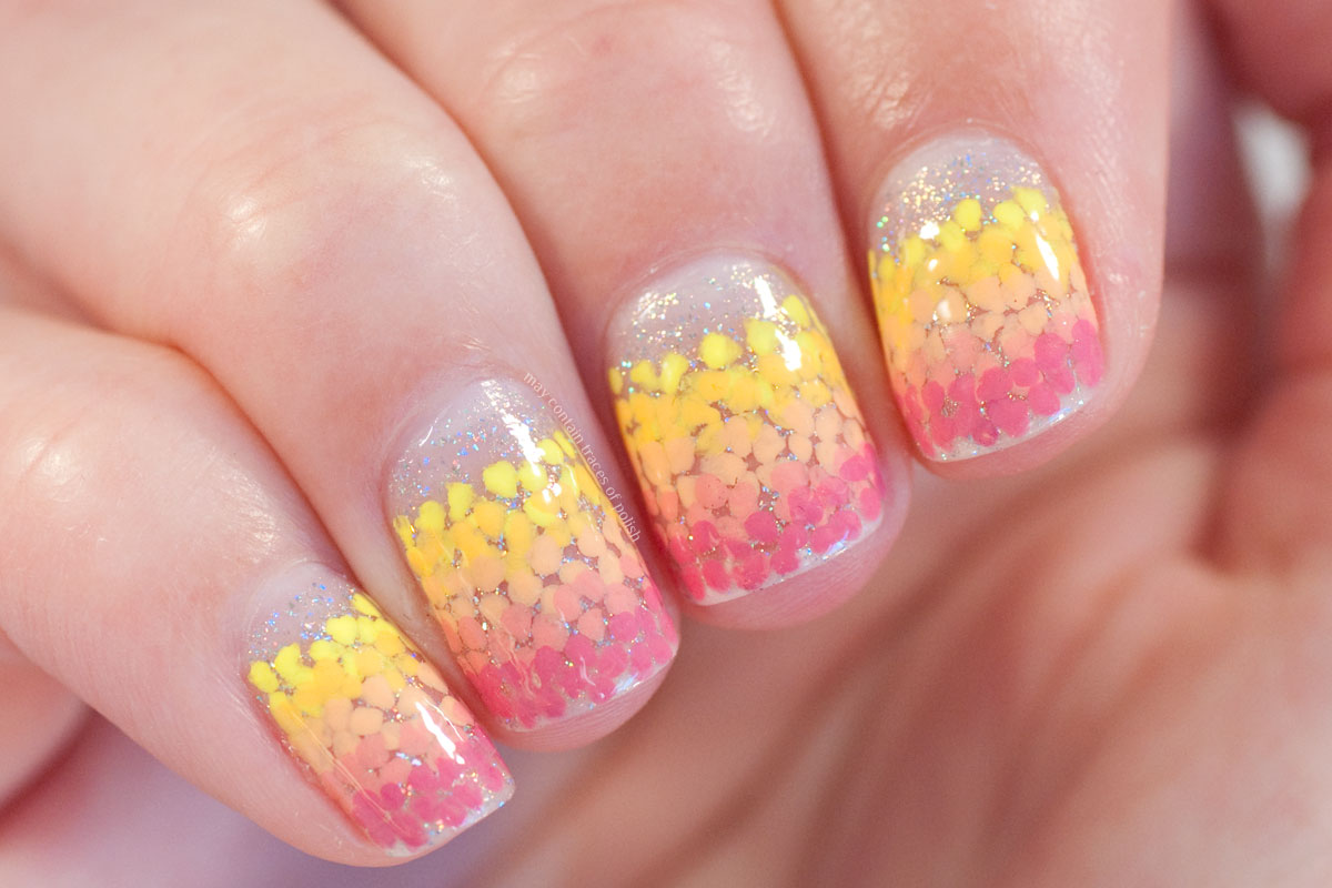 Floral Gradient Nails with ILNP Sunday Brunch