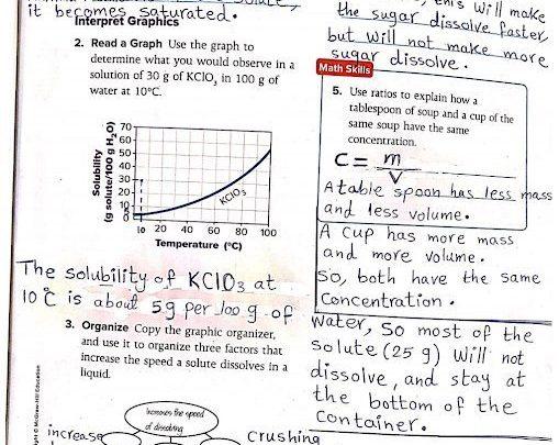 حل أسئلة الوحدة السادسة المحاليل علوم
