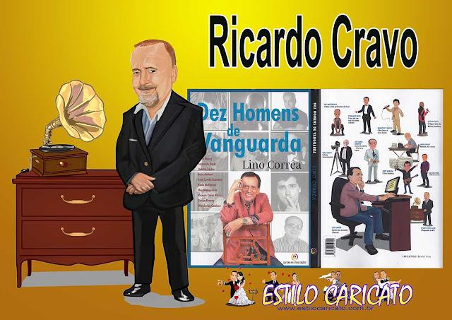 Caricatura do escritor Ricardo Cravo